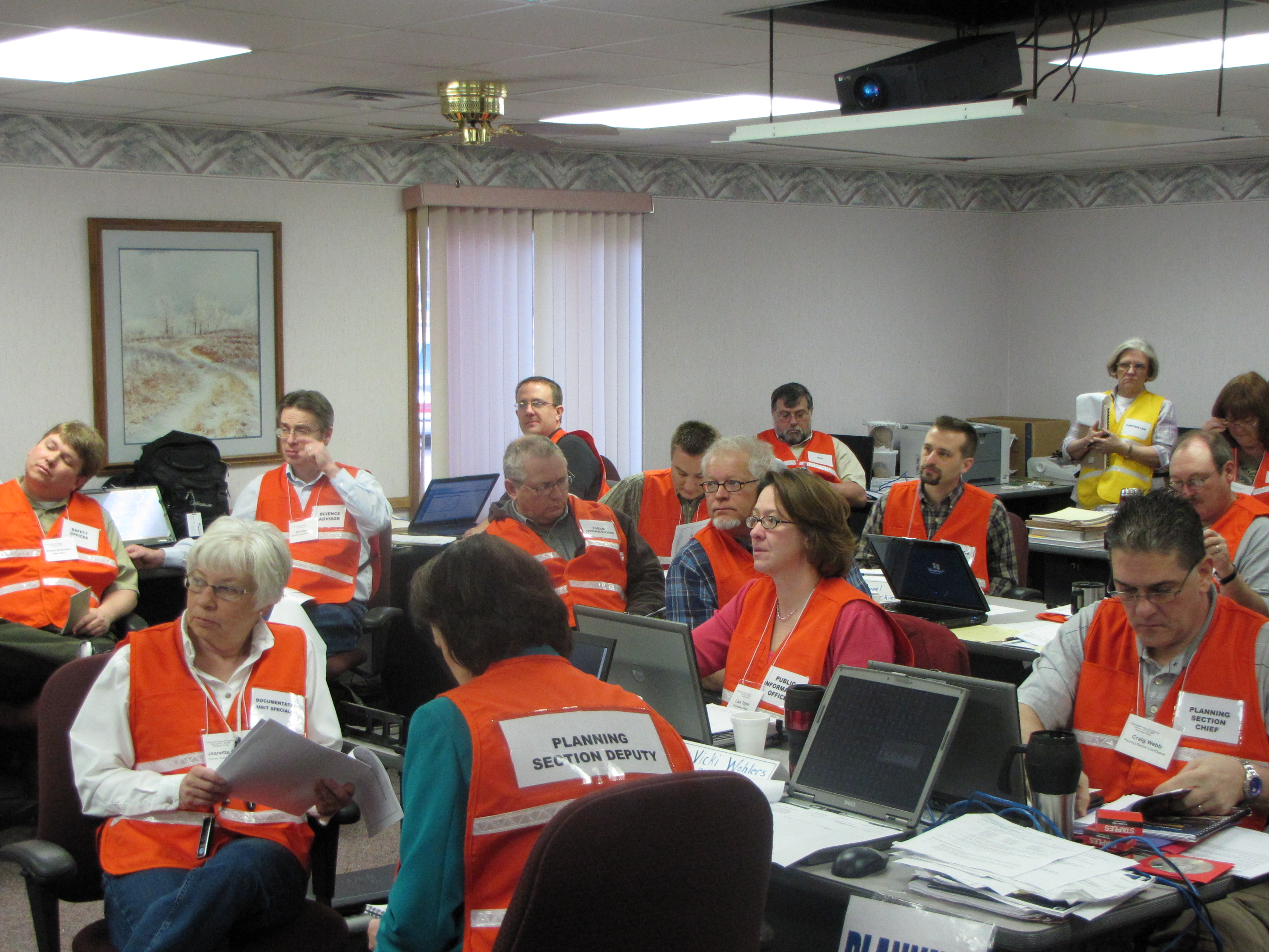 2009 Exercise at incident command post